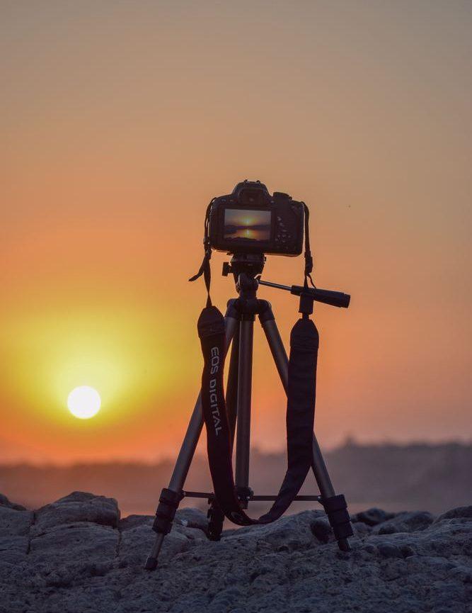 Ta extra fina bilder med hjälp av kamerastativ